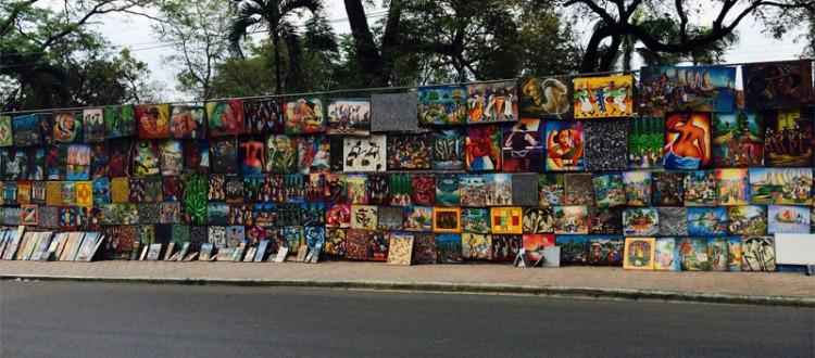Haitian art at the street market