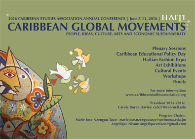 Caribbean Studies Association 41st Annual Conference