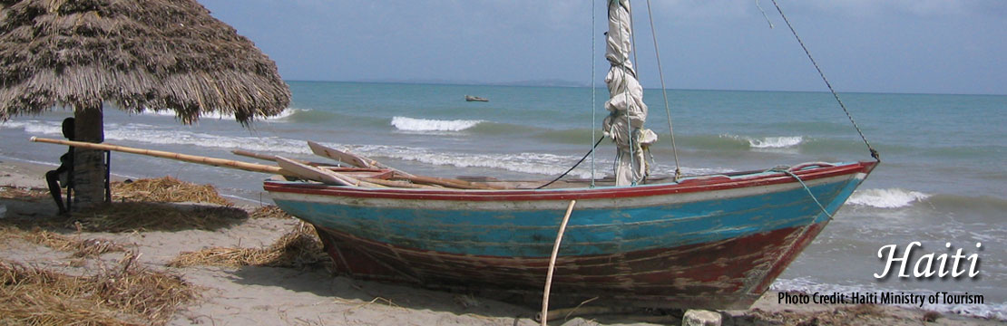 boat on the beach in Haiti