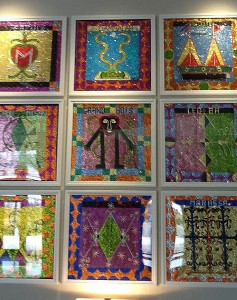 Haitian beaded artwork
