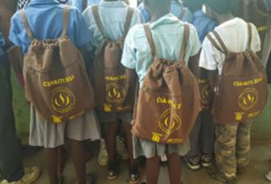 children with CSA bookbags