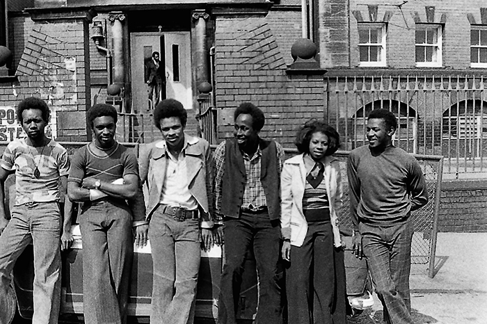 1974 Leeds West Indian Carnival committee. Arthur France third from left.