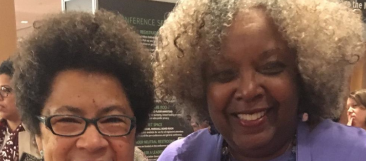 Drs. Barbara Ransby, NWSA President and Irma McClaurin, Honoree and Leadersship Consultant