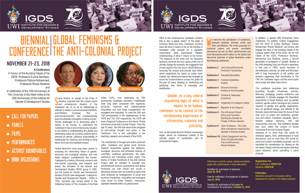 Biennial Global Feminisms and the Anti-Colonial Project PDF