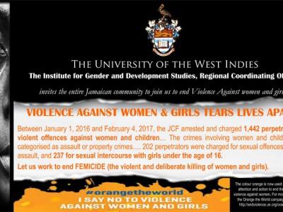 16 Days of Activism against Gender-Based Violence Campaign flyer