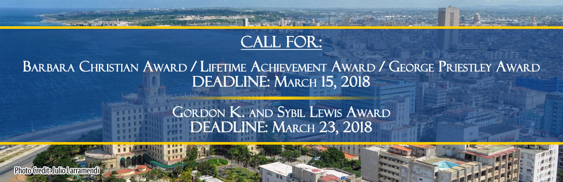 Caribbean Studies Association conference deadlines