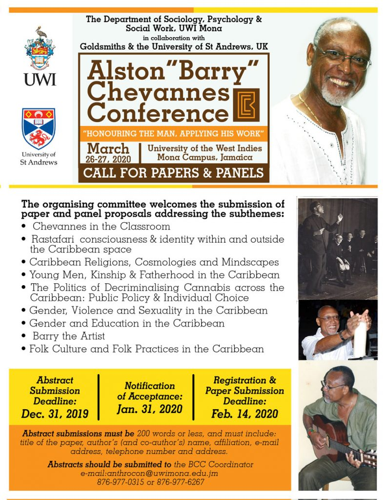 Alston Chevannes Conference flyer