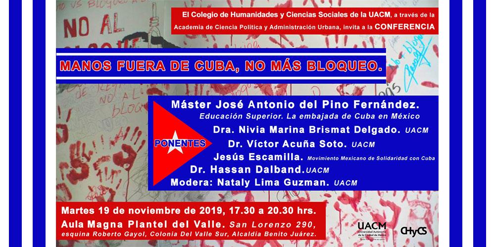 Cuba, UACM, Plantel del Valle, 19 noviembre 201