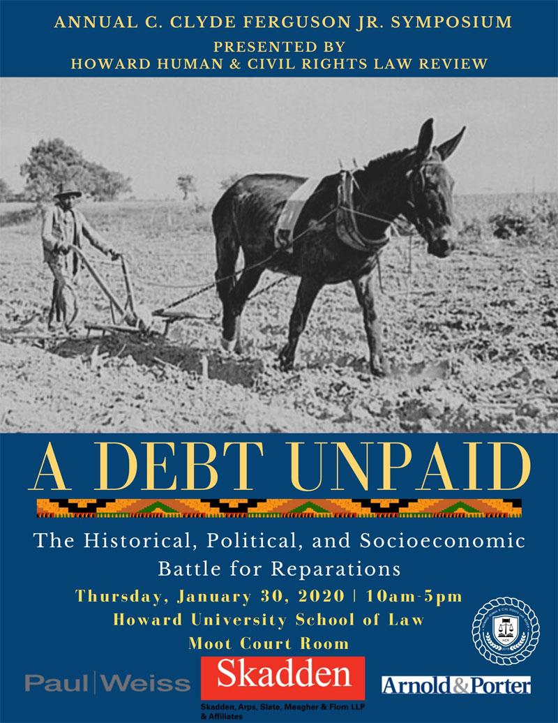 A Debt Unpaid flyer