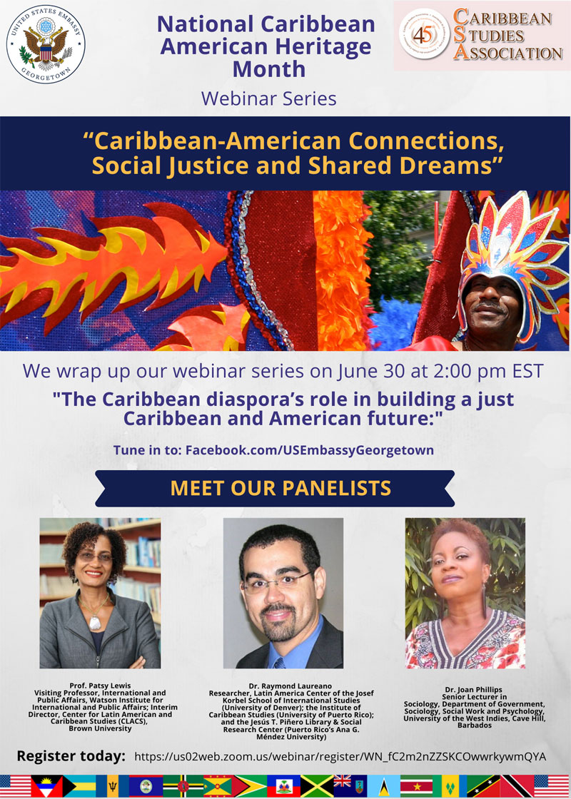 National Caribbean American Heritage Month Webinar Series