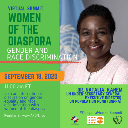 Women of the Diaspora Virtual Summit flyer