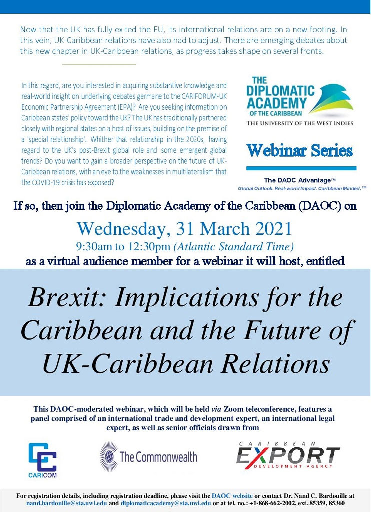 Brexit: Implications for the Caribbean and the Future of UK-Caribbean Relations flyer
