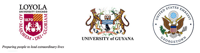 Loyola University, University of Guyana, U.S. Embassy Georgetown and Industry and Commerce logos