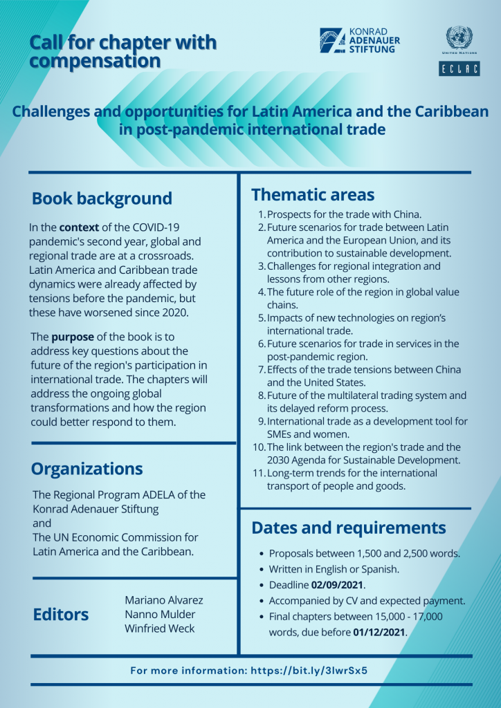 Challenges and opportunities for Latin America and the Caribbean in post-pandemic international trade Call for book chapters