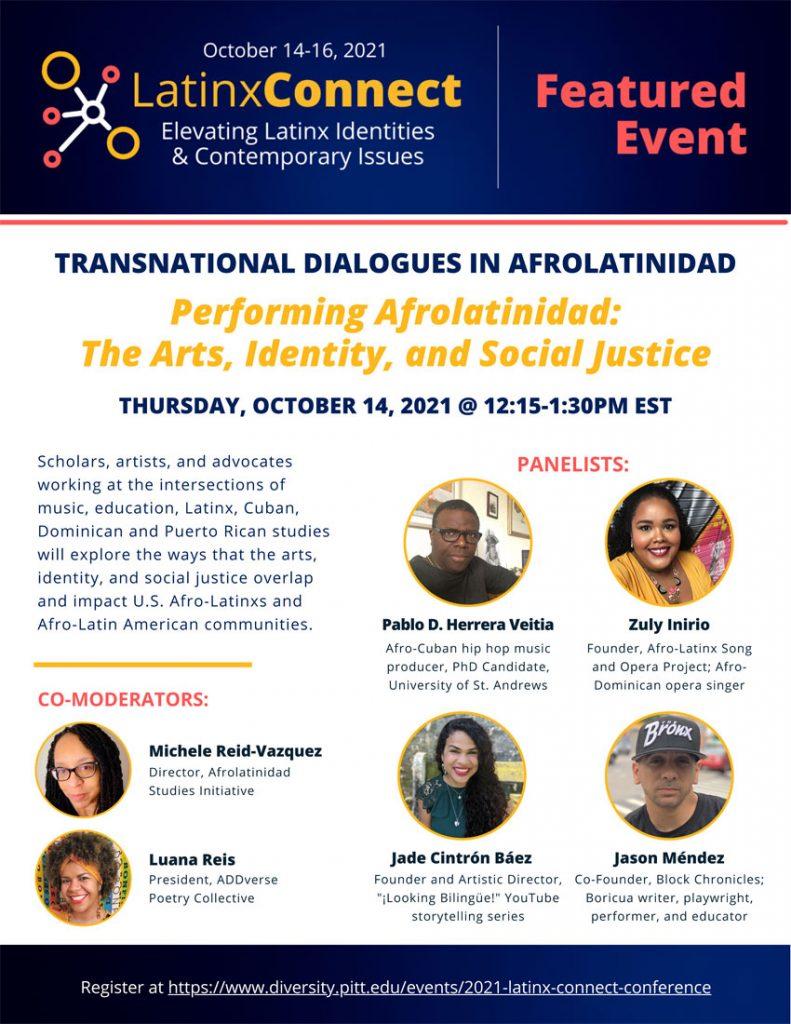 Performing Afrolatinidad: The Arts, Identity, and Social Justice webinar